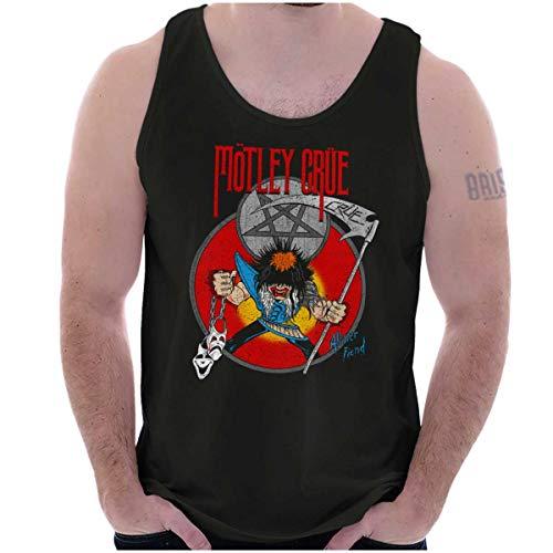 Motley Crue Rock Mascot Allister Fiend 80s Tank Top Black