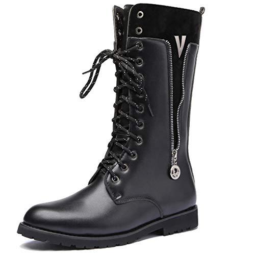 MERRYHE Botas De Combate para Hombre Vintage Botas De Media Pantorrilla Botas Tácticas Militares para El Ejército Lace Up High Top Shoes Zapatillas De Deporte Biker De Vaquero