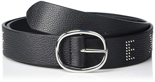 A|X Armani Exchange - Cinturón de piel con tachuelas para mujer -...
