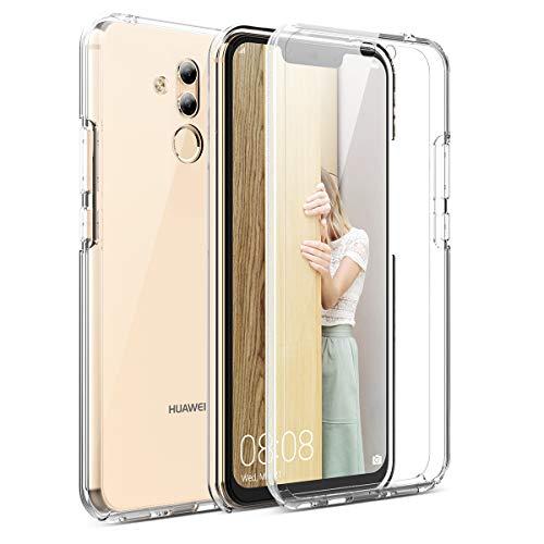 CE-Link Kompatibel mit Huawei Mate 20 Lite Hülle 360 Grad [Crystal Clear] Transparent Hüllen mit Integriertem Displayschutz Silikon und PC Handyhülle Schutzhülle für Huawei Mate 20 Lite Durchsichtige