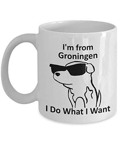Groningen Pride Koffie Mok 11oz Wit Cadeaubeker