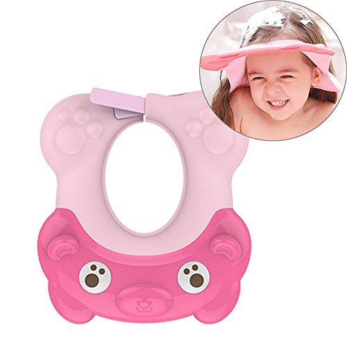 Shampooing Shield, souple en silicone réglable Safe Shampooing Douche Bain protéger doux Casquette Chapeau pour bébé enfant tout-petit