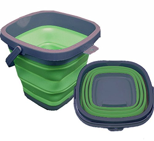 Roaming Cooking Cubo Plegable, Cuadrado, Capacidad de 10 l Caravana, Remolque, apartamento...