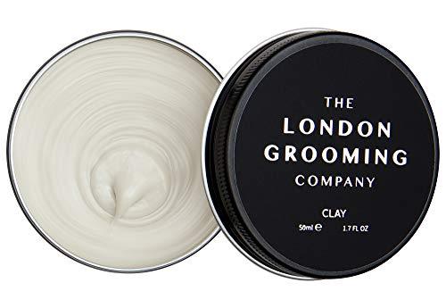 The London Grooming Company Arcilla para Hombres - Fijación Firmme y Acabado Mate Seco - 50 ml / 1,7 fl oz Producto de Cabello Basado en Agua - Aroma de Madera de Laúd Árabe