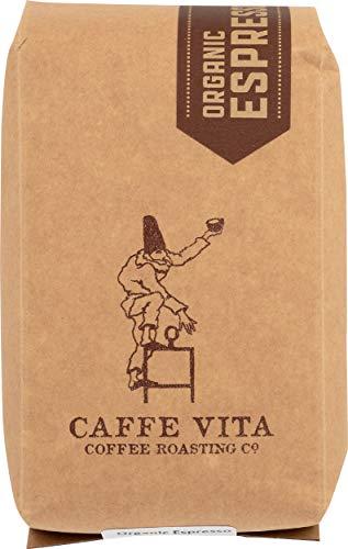 Caffe Vita Organic Espresso, Whole Bean (Light Roast), 12 oz