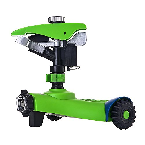 #15. GREEN MOUNT Lawn Automatic 360 Rotating Adjustable