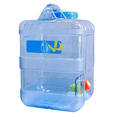 Luckything Waterjerrycan voor in de auto, draagbaar, 15 liter, watertank, waterjerrycan, draagbare waterdispenser met kraan/wateruitloop, voor in de open lucht of op de camping