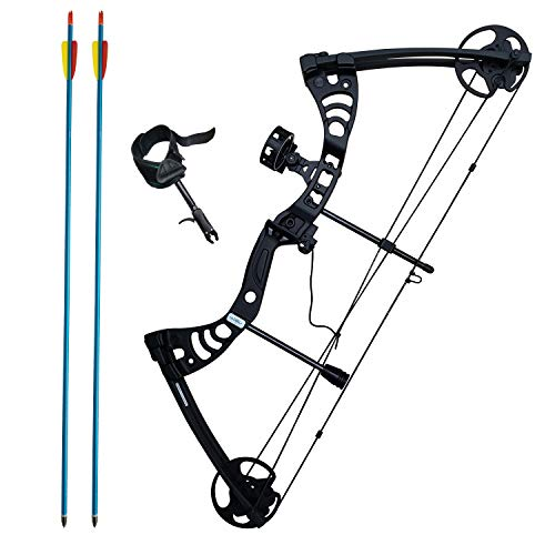 Southland Archery Supply SAS Scorpii 55 Lb 29' Compound Bow (Black Kit Package)