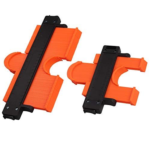 Neoteck 型取り ゲージ コンターゲージ 2個セット 120mm 250mm ロックデザイン ABS樹脂製 角度測定