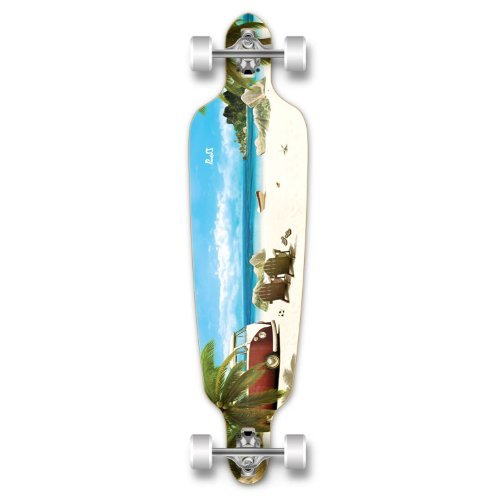 Yocaher Drop Through Complete Longboard Professional Speed Skateboard - Getaway
