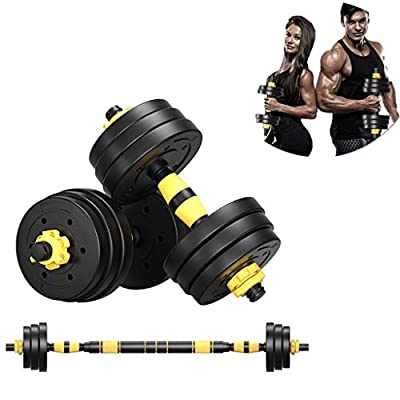 Fitness Dumbbells Set of 2 Adjustable Weights to