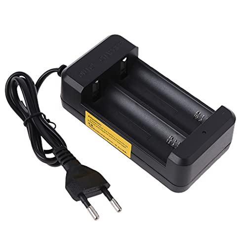Frotox Cargador Inteligente Universal para baterías Recargables 26650 18650 Baterías de Iones de Litio de Doble Base