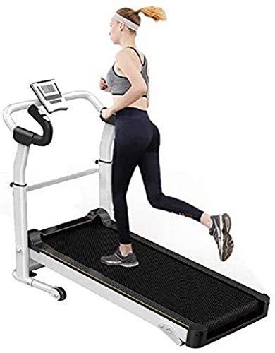 Cinta de correr manual portátil, máquina para correr, pantalla LED compacta, cinta de correr plegable para el hogar, gimnasio, entrenamiento físico, correr, caminar, correr, cinta de correr plegable p