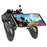 🎮 【ERGONOMIC DESIGN】 - PUBG gamepad is specially designed for mobile shooting games, it extends your phone to a traditional Xbox or PS controller, more comfortable for big hands. Phone body and controller are firmly fixed through three contact points...