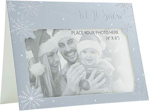 Kerstmis fotolijst Kaarten & Enveloppen 6 x Gepersonaliseerde Elke Familie Foto Zilver Sneeuwpop