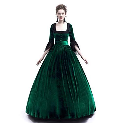 Cuteelf Damen Mittelalter Königin Kostüme Mode Frauen Retro Gothic Platz Kragen Patchwork Bogen Kleid Renaissance Kostüm Eleganz Prinzessin Kleid
