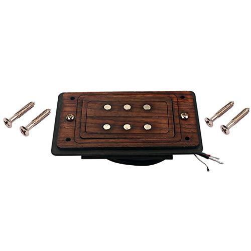3 String Cigar Box Guitar Pickup mit Palisander Rahmen Cigar Box Guitar Parts