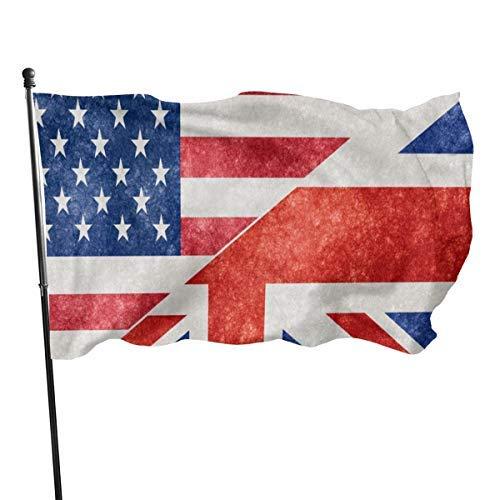 EU USA UK Britisches Muster 3x5 Fuß Nylonflagge - Lebendige Farbe und UV-Beständigkeit für Innen- und Außenbereiche