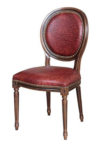 Arteferretto Chaise Empire en cuir véritable