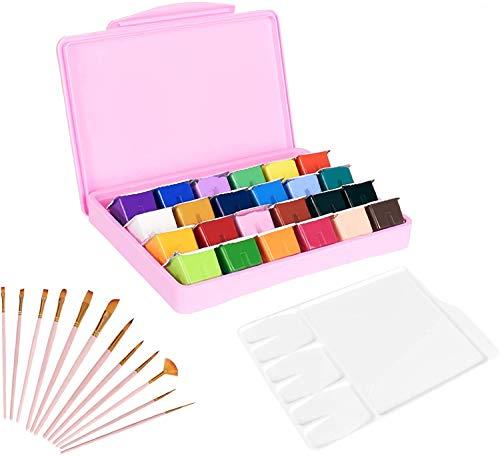 KENTING 24 colores de gouache de la pintura conjunto, 30ml único jalea...