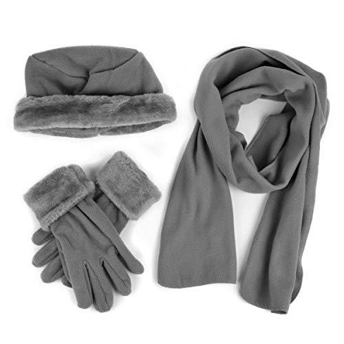 Cloche Fur Trim 3 Piece Fleece...