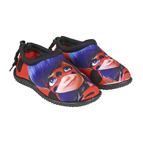 takestop Ladybug, waterschoenen, cartoon, meisjes, veters, sandalen, antislip, tegen steentjes, watersport