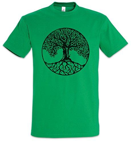 Urban Backwoods Yggdrasil VII Camiseta De Hombre T-Shirt Verde Talla L