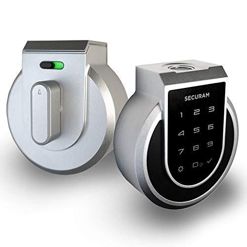 SECURAM - Cerradura electrónica inteligente para puerta de entrada con identificación de...