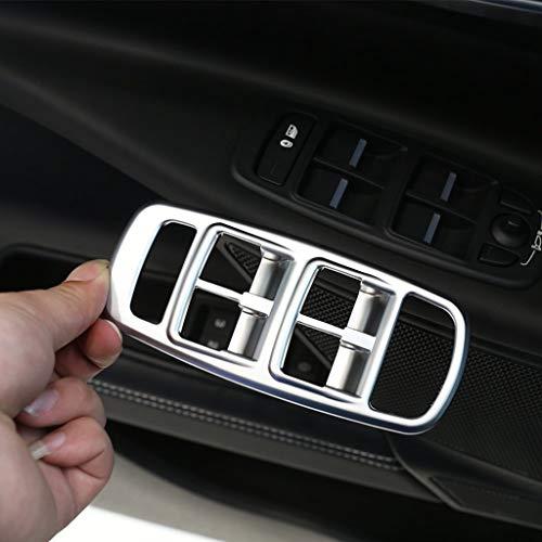 Bouton en Plastique chromé ABS de Couverture de Bouton d'ascenseur de fenêtre d'ascenseur de Voiture en Plastique chromé Argent Mat pour XE