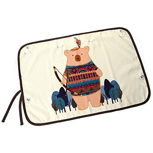 Pare-Soleil Fenêtres de Voiture, Caricature Ombre soleil Cartoon Tribal Bear Protégez votre enfant Les bébés bébés contre les rayons du soleil et les rayons UV Paquet de 2 pour Bébé, Adultes,Chien