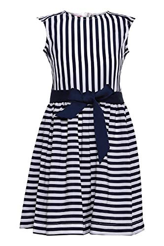 La-V Mädchen Sommerkleid Marineblau/Größe 134