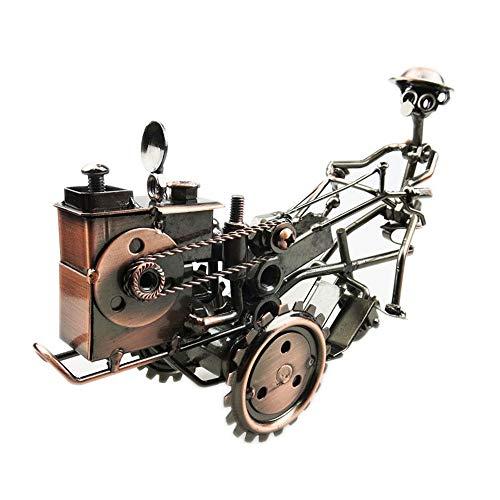 YZYZYZ Adornos Vintage Modelo De Tractor De Hierro Forjado Sala De Estar Estudio Oficina Decoración Artesanía De Metal Hecho A Mano Destacados Regalo Creativo Recuerdo De Bronce