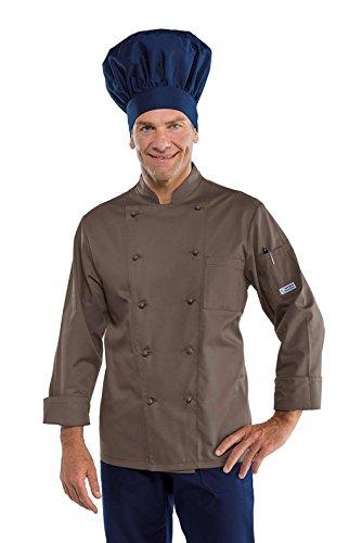 Isacco Jacke Cuoco Classica Fango XXL, 65% Polyester 35% Baumwolle, Panikknöpfe, 195 g / m2