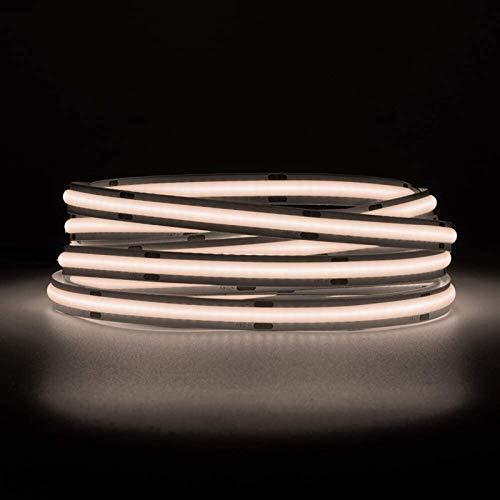 Tira de la lámpara LED de alta densidad flexible 1m / 5m 360/420 / 480leds / m 2400leds naturales blanco 24v / 12v regulable deformable FOB COB LED tira de luz para dormitorio cocina interior decoraci