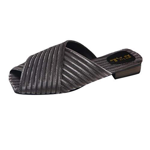 Culater Los zapatos Moda para Mujer Zapatos de Tendencia Sandalias Zapatillas. Gris 33 EU