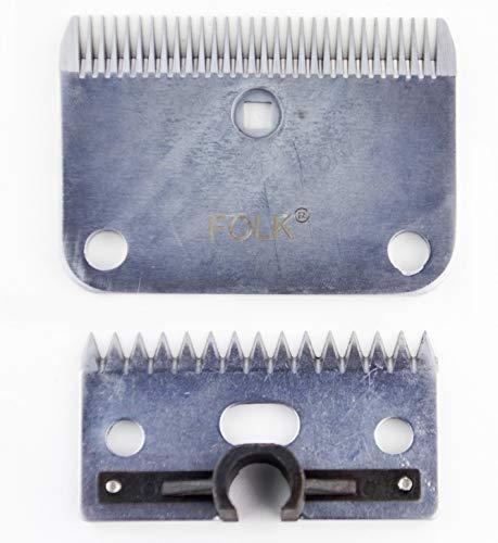 Folk Cuchillas de Recambio para esquiladoras, GTS, Sure-Clip, Tipo Lister tamaño Mediano de 1 o 3 mm de Corte (A- 1 mm de Grosor)