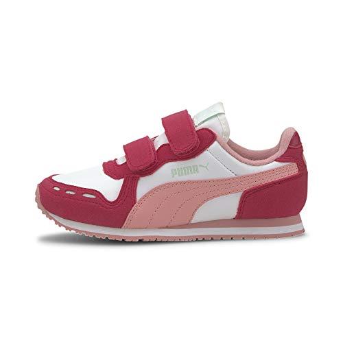 PUMA Unisex Kinder Cabana Racer SL V PS Sneaker, Weiß White Bright Rose Peony 81, 34 EU