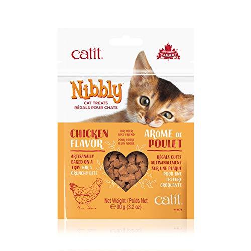 Catit Nibbly Chicken Flavor Cat Treats, 3.2 oz