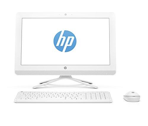 HP All-in-One 20-c024nl Desktop PC da 8 GB, Display da 19.5', Celeron J3060, HDD 1000 GB, Intel HD Graphics, Bianco [Layout Italiano]