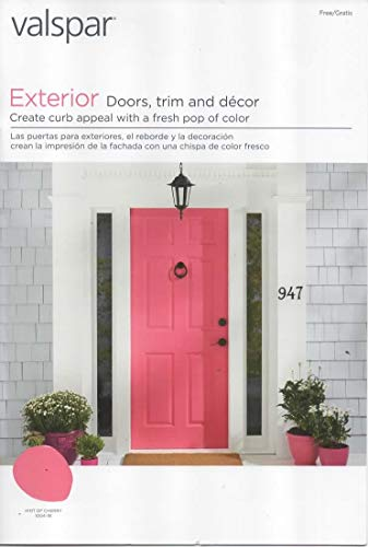 Valspar Paint Catalog, Color Chips/Samples for Exterior Doors, Trim, Decor, Duramax and Reserve Brand Exterior Paints