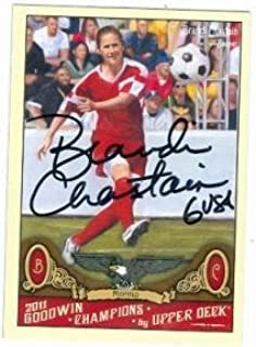 brandi chastain autographed soccer ball