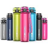 Proworks Bottiglia Acqua a Prova di Perdita   Pallone Sport Scorrimento Ideale per Corsa, Ciclismo & Escursionismo   Bottiglia per Bibite in Plastica Tritan Senza BPA - 0,4 Litri (14 Once) - Rosa