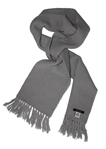 Posh Gear Alpaga Écharpe Homme Scaldante 100% Alpaga laine, 160cm x 20 cm, gris