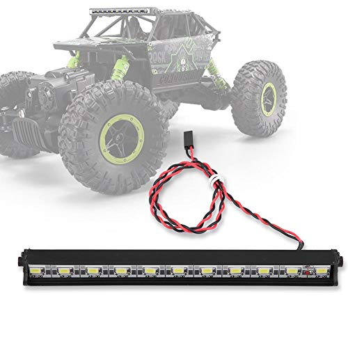 Dilwe RC Auto LED Lichtleiste, 1/10 Skala RC Crawler Auto Zubehör Teile 150mm Metall Dach Lampe 11 LED Lichter Bar Kit