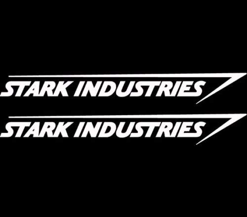 Stark Industries Sticker Vinyl Decal Marvel Iron Man Avengers Car Window x2, Die Cut Vinyl Decal for Windows, Cars…