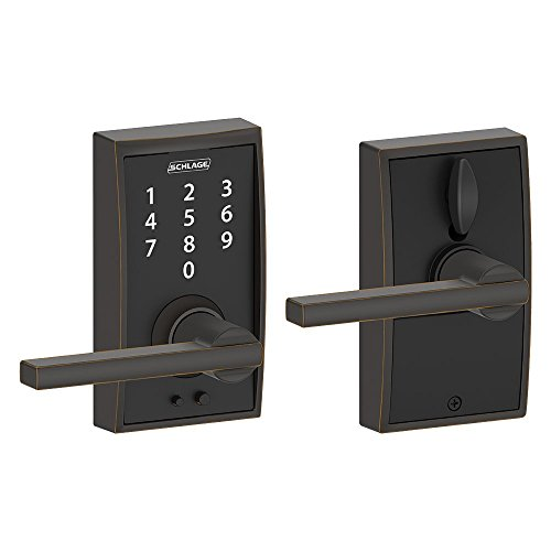 Schlage Touch Century Lock with Latitude Lever (Aged Bronze) FE695 CEN 716 LAT