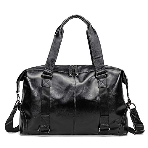 JYH Luggage bags for suitcases on weekends and nights, ladies and men's weekend travel tote bags,Black