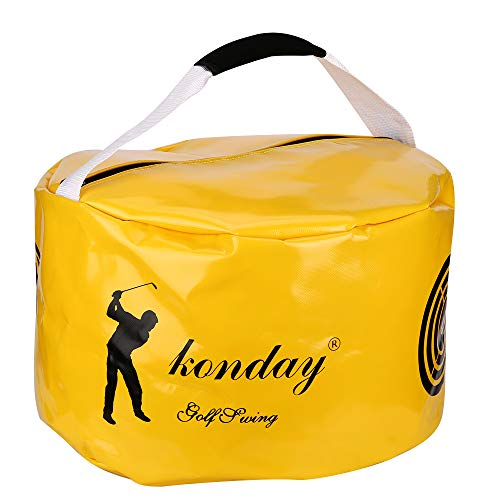 KONDAY Smash Bag Golf Impact Power Hitting Bag Swing Training Aids with Ground Nail and Elastic Rope Returning Back After Hitting Thicker Durable Waterproof