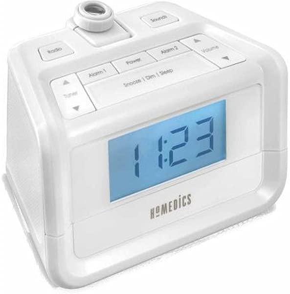 Time Projection SoundSpa Digital FM Clock Radio White