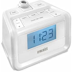 Time Projection SoundSpa Digital FM Clock Radio, White